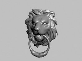 Lion Knocker 3d preview