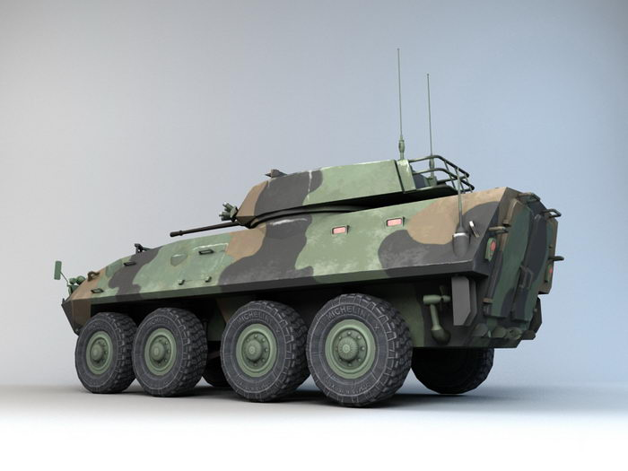 LAV-25 Wheeled Reconnaissance Vehicle 3d rendering