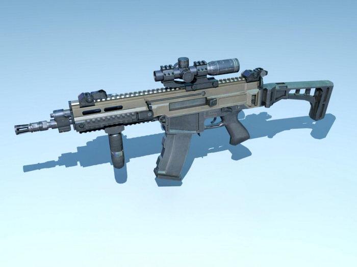 CZ 805 BREN Carbine 3d rendering