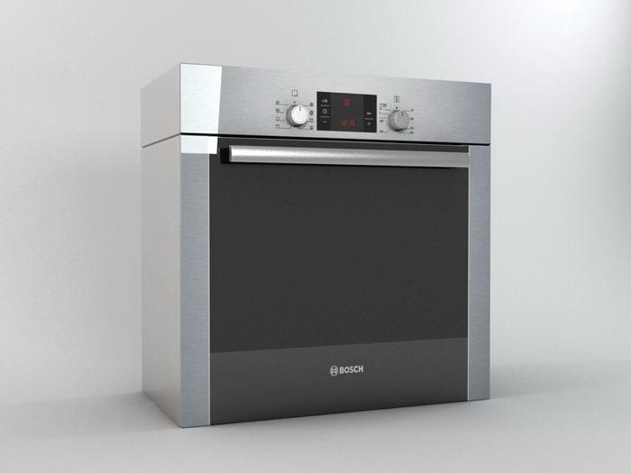 Bosch Oven 3d rendering