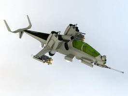 Sci Fi Hover Helicopter 3d preview