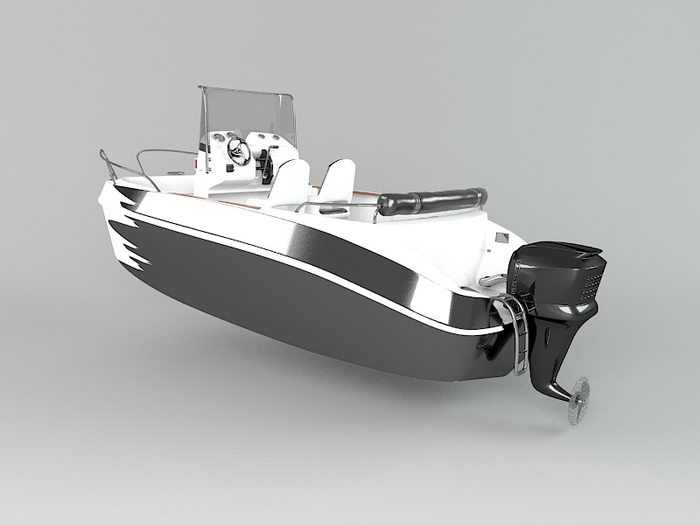 Small Powerboat 3d rendering