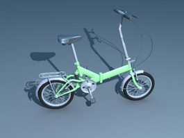 Small Wheel City Bicycle 3d model preview