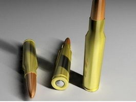 7.62×51mm NATO Rifle Cartridge 3d preview