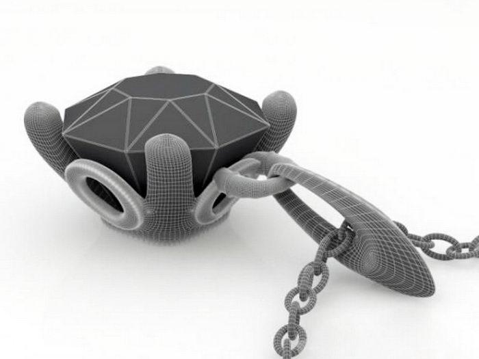 Diamond Necklace 3d rendering