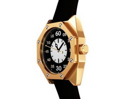 Black Gold Watch 3d model preview