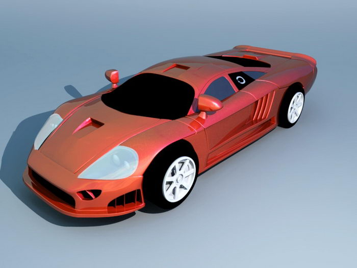 Red Roadster 3d rendering