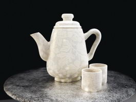 Ceramic Tea Set 3d preview
