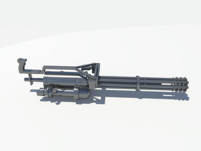 Rotary Heavy Machine Gun 3d rendering
