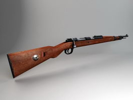 Mauser 98k Rifle 3d model preview