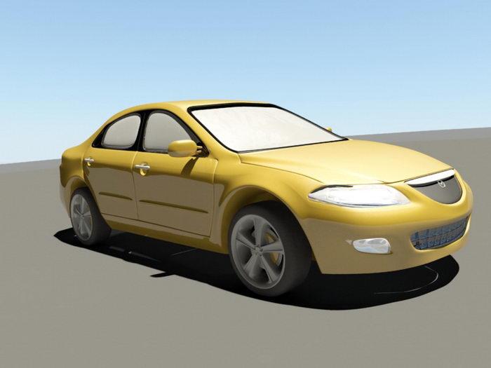 Mazda 6 Sedan 3d rendering