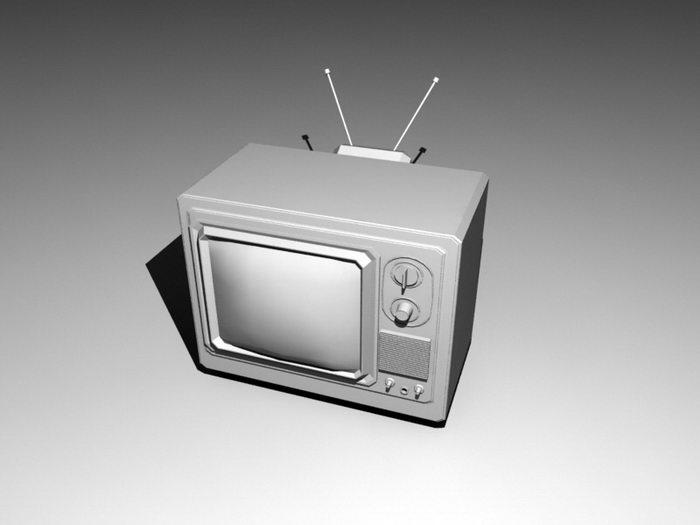 Vintage Television 3d rendering