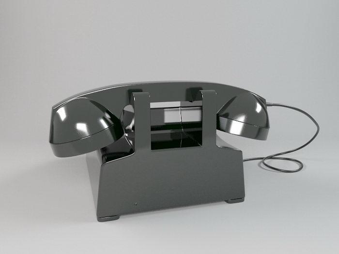 Black Telephone 3d rendering
