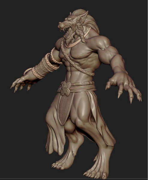 Human Werewolf 3d rendering