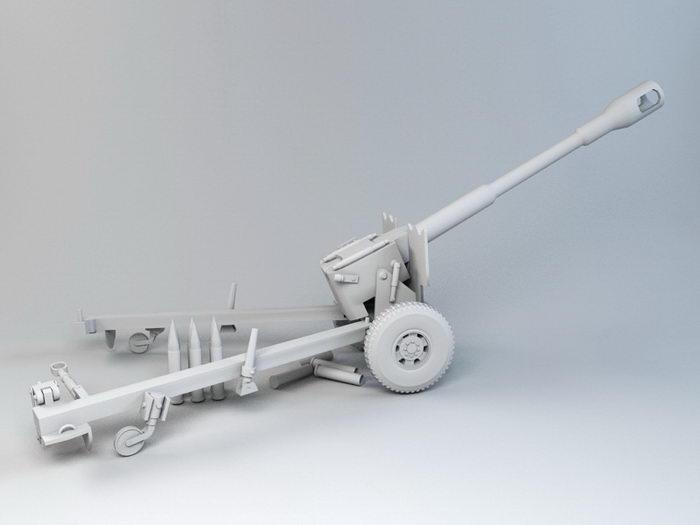 Howitzer Artillery 3d rendering