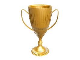 Golden Trophy 3d preview