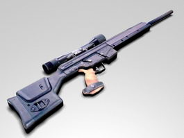 PSG1 Sniper Rifle 3d preview