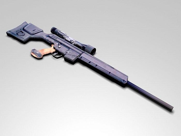 PSG1 Sniper Rifle 3d rendering