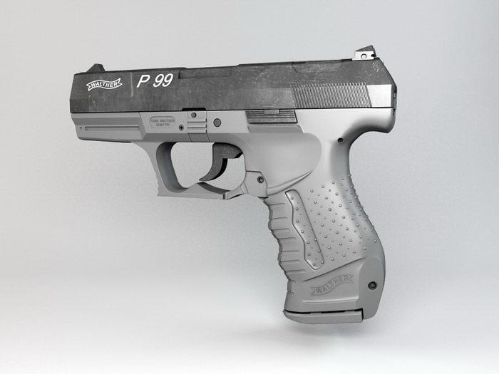 Walther P99 Pistol 3d rendering