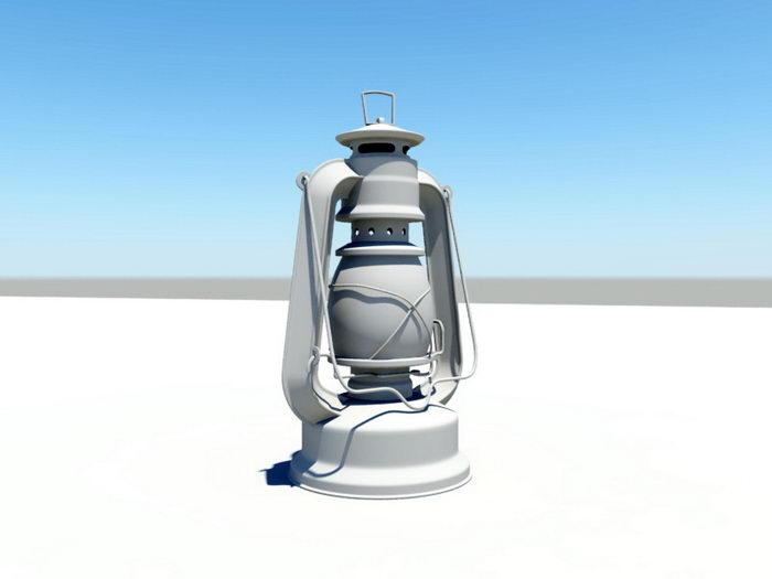 Oil Lantern 3d rendering