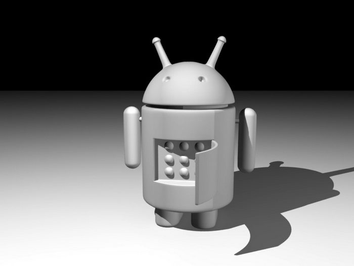 Android Robot 3d rendering