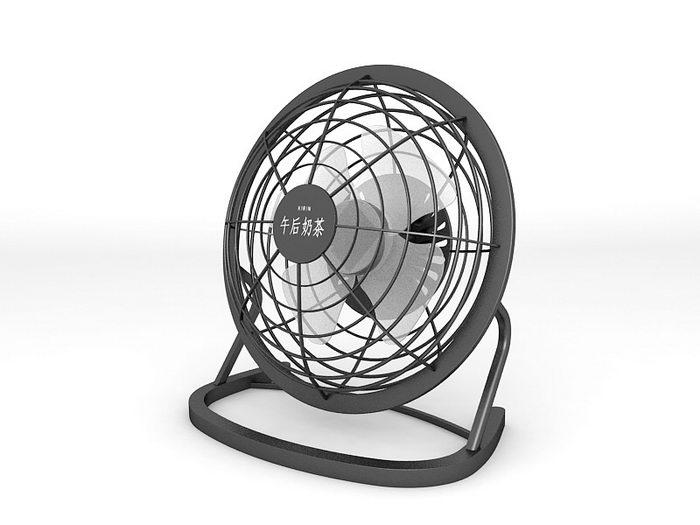 Small Table Fan 3d rendering