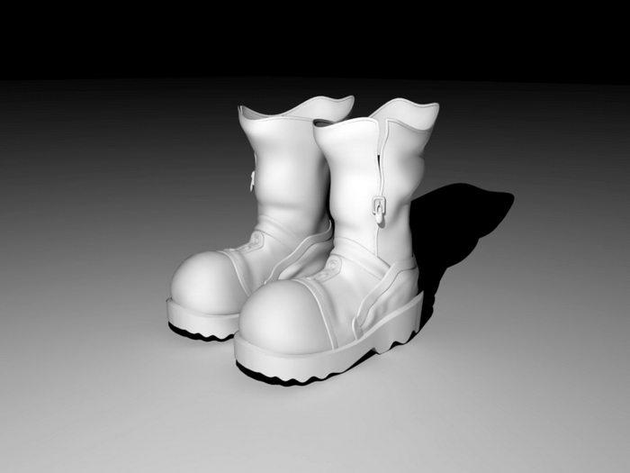 Cartoon Boots 3d rendering