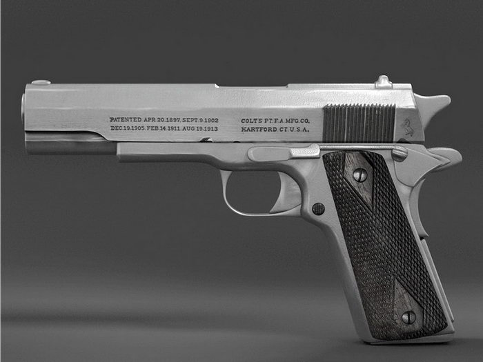 Colt Model 1910 Pistol 3d rendering