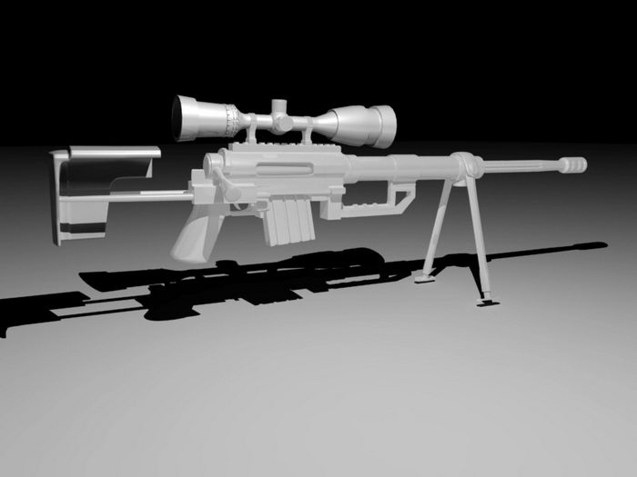 Military Sniper Rifle 3d rendering