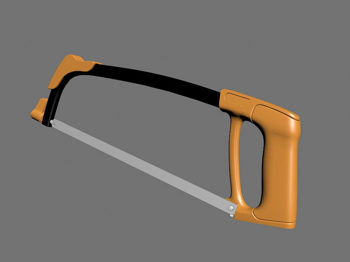 Wood Bow Saw 3d rendering