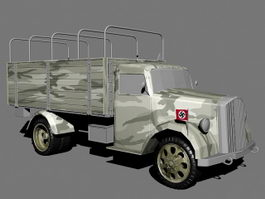 WW2 German Army Truck 3d preview
