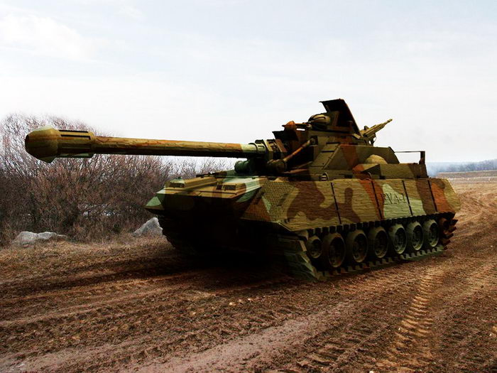 Future Army Tank 3d rendering
