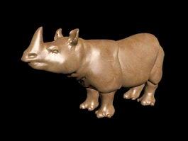 Rhino Statue 3d preview