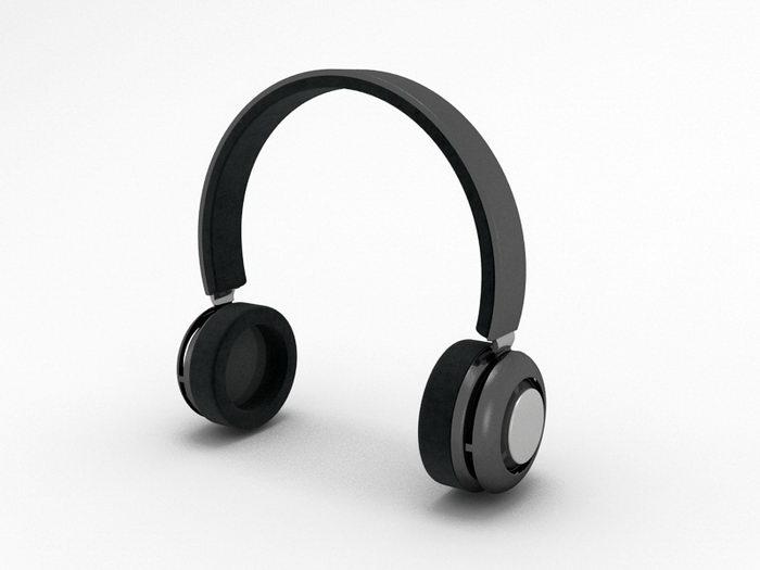 Circumaural Headphones 3d rendering