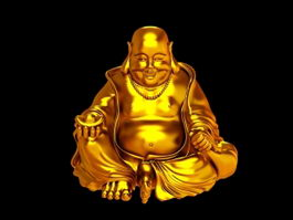 Golden Buddha Statue 3d preview