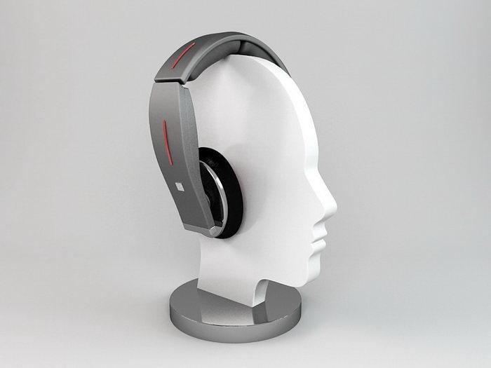 Wireless Headphone 3d rendering