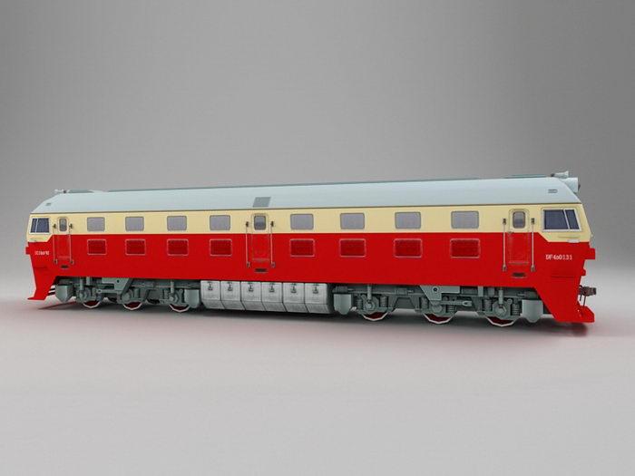 China Railway DF4 Locomotive 3d rendering