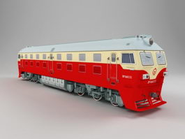 China Railway DF4 Locomotive 3d preview