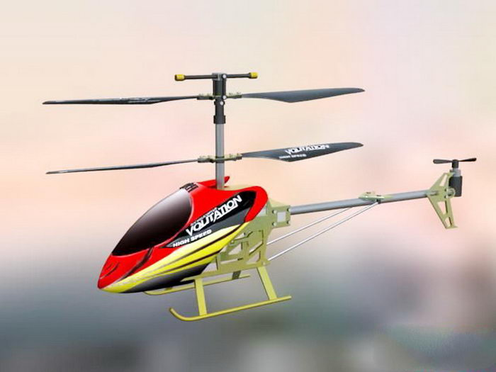 RC Helicopter 3d rendering