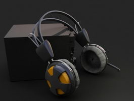 Music Headphone 3d preview