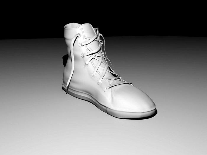 Old Sneaker 3d rendering