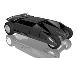 Batmobile 3d model preview