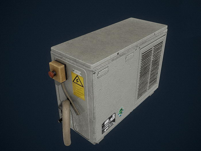 Old Air Conditioning Unit 3d rendering