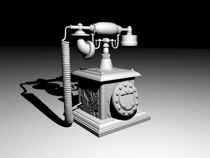 Vintage Telephone 3d rendering