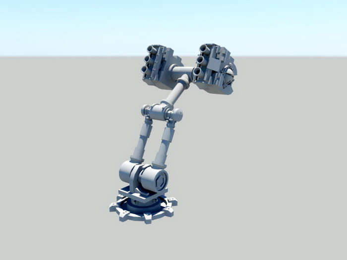 Animated Robot Arm 3d rendering