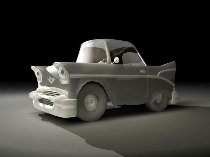 Cartoon Car Rig 3d rendering