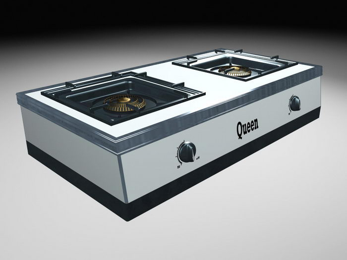 Cooktop Gas Stove 3d rendering