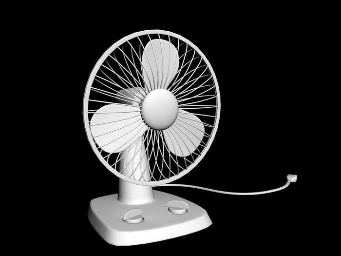 Small Desk Fan 3d rendering
