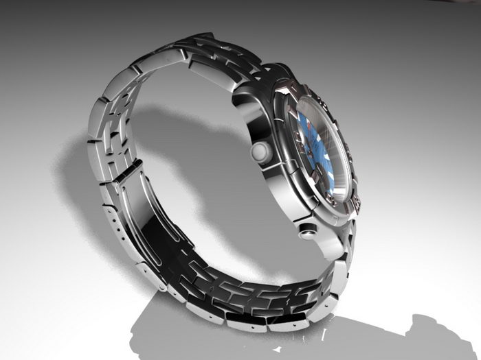 Wrist Watch 3d rendering