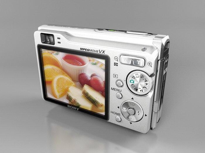 Sony Cyber-shot DSC-W90 3d rendering